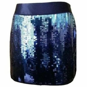 NWT EXPRESS Sequin ombre blue mini skirt 8